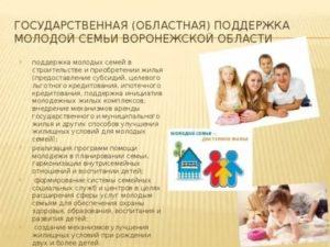 Список программы государства поддержка семьи