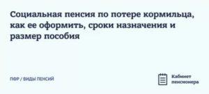 Материальная Компенсация – 1500 Рублей Для Лиц До 23 Лет По Потере Кормильца