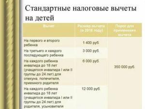Стандартный Налоговый Вычет На Ребенка В Месяце В Ктором Исполняется 18 Лет