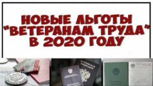 Какие льготы положены ветеранам труда федерального значения в саратовской области в 2020 г