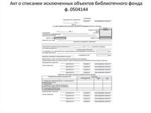 Списание Библиотечного Фонда В Бюджетных Учреждениях В
