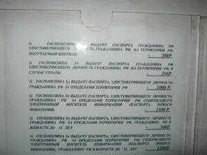 Размер Госпошлины За Утерю Паспорта
