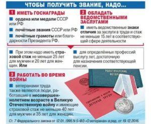 Стаж Для Получения Ветерана Труда В Ростовской Области 2020