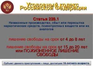 Статья 228 1 часть 4 п г ук рф 2020 последние поправки