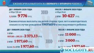 Москва выплаты при рождении первого ребенка 2020