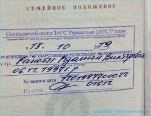Ответственность за отсутствие штампа о браке в паспорте