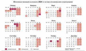 Производственный Календарь 2020 При Сменном Графике 1/3
