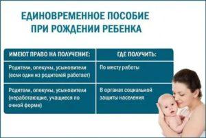 Сроки Выплаты Единовременного Пособия При Рождении Ребенка В 2020