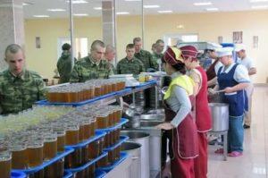 Обязанности дежурного по столовой воинской части