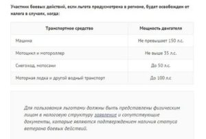 Налог на авто для ветеранов боевых действий в башкирии 2020