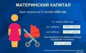 Можно ли получить 20000 из материнского капитала в 2020 году