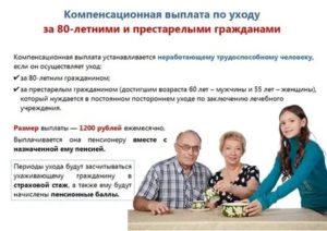 Что Дает Оформление По Уходу За Пожилым Человеком Старше 80