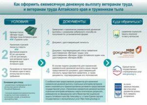 Размер Ежимесечной Выплаты Ветерану Труда В Алтайском Крае