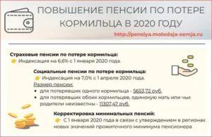 Проиндексируют Ли Пенсию По Потере Кормильца В 2020 Году